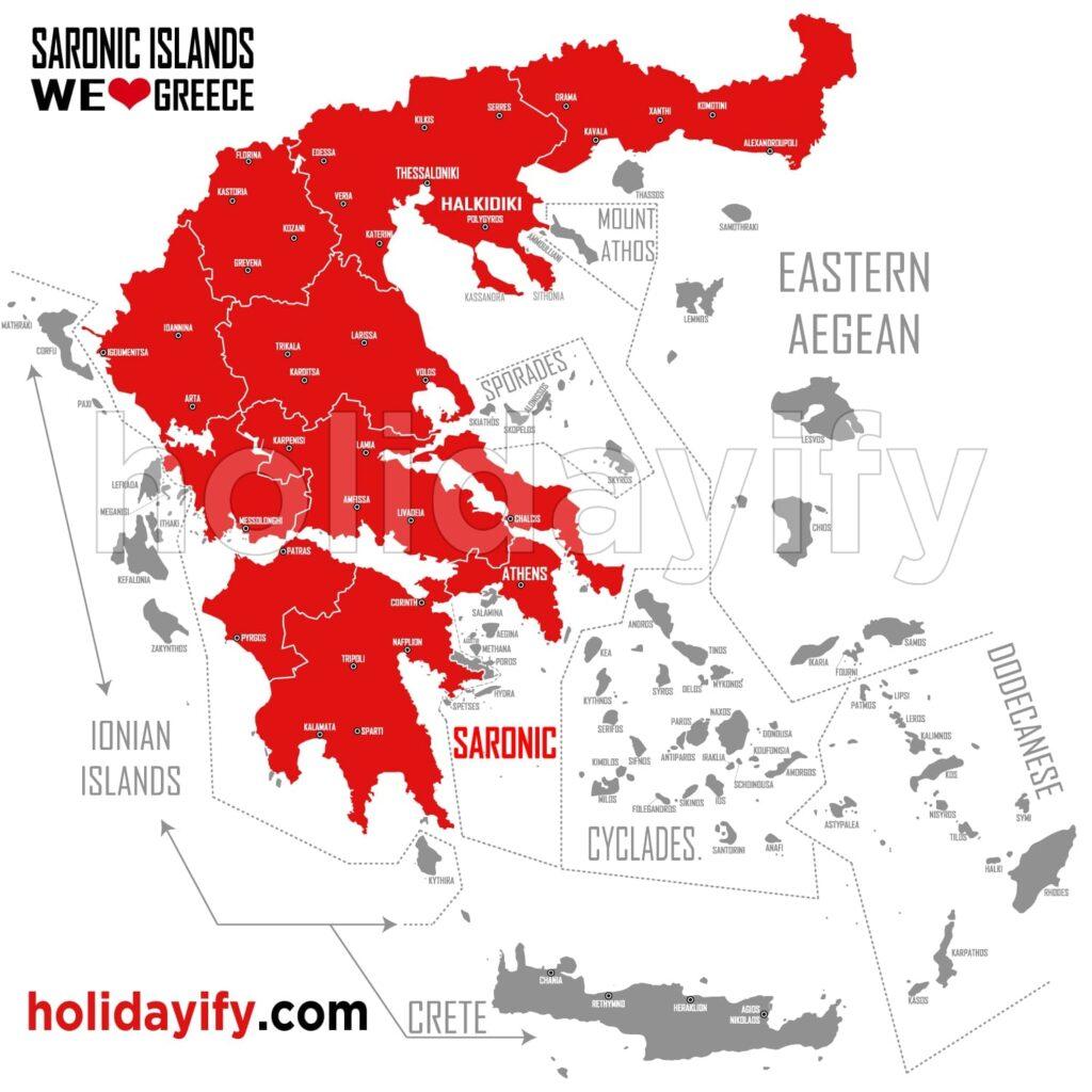 Saron Adaları Haritası