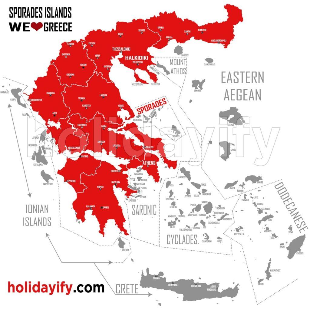 Sporad Adaları Haritası