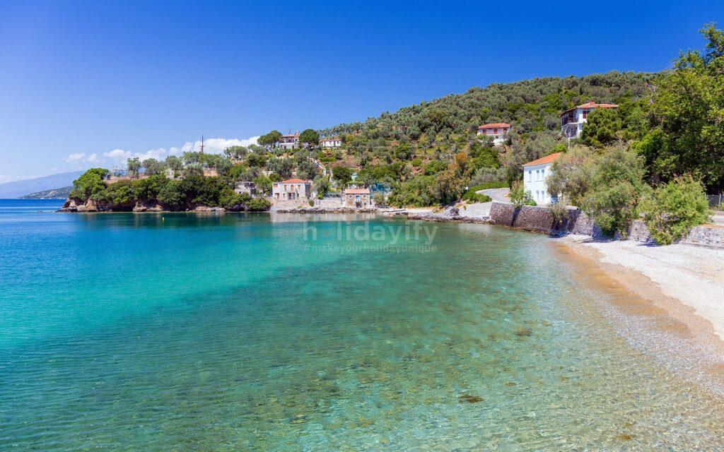 Beach in Milina village, Pelion, Greece