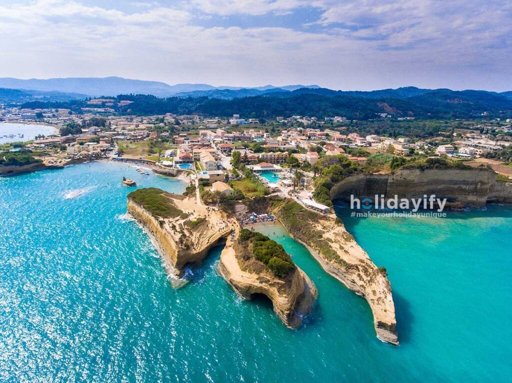 Corfu Sidari Canal D Amour Beach