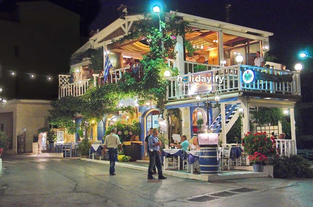 Cretan Dinner Time at Malia