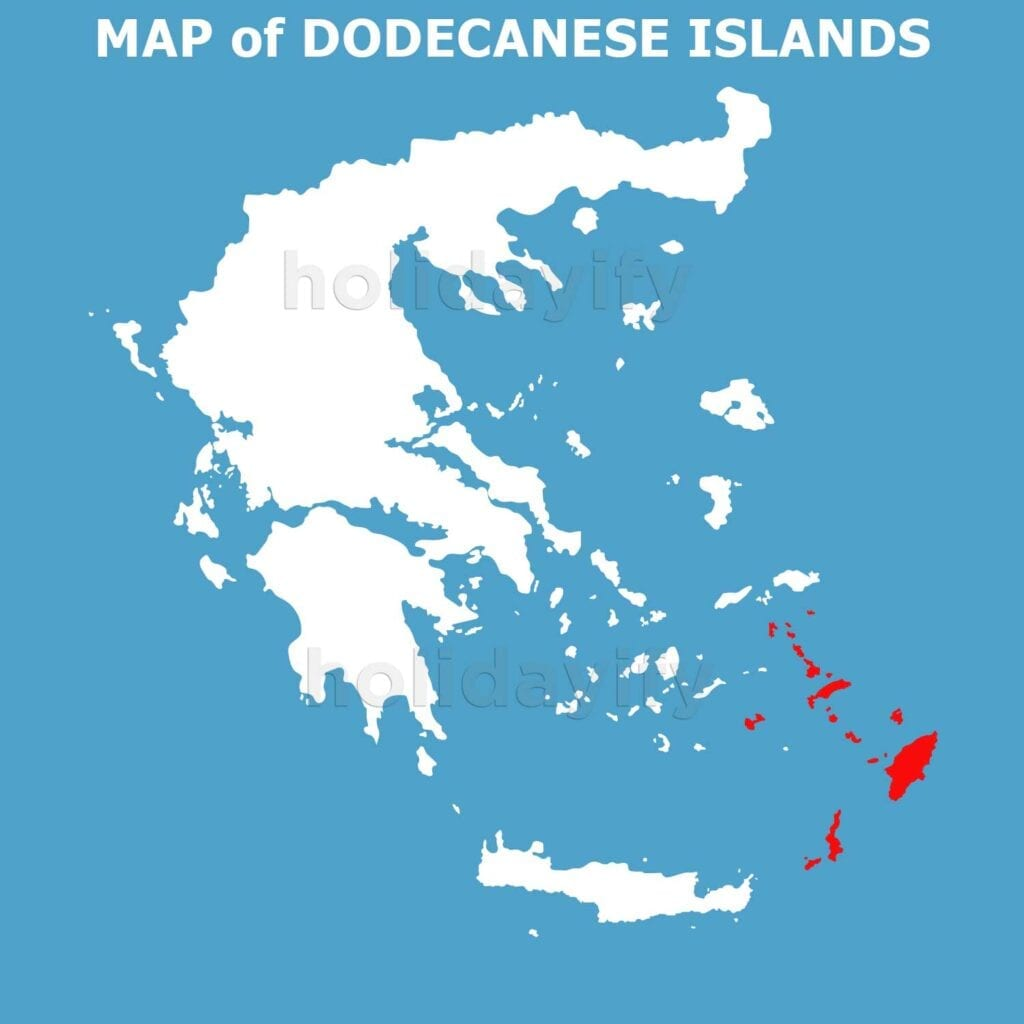 Map of Dodecanese Islands