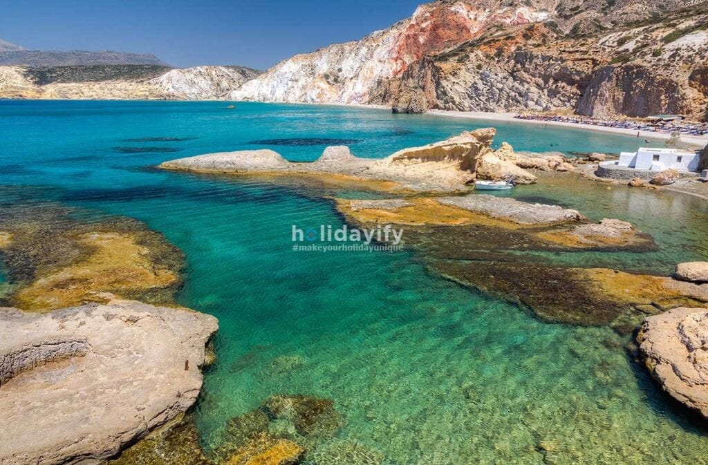 Fyriplaka beach, Milos island, Cyclades, Greece
