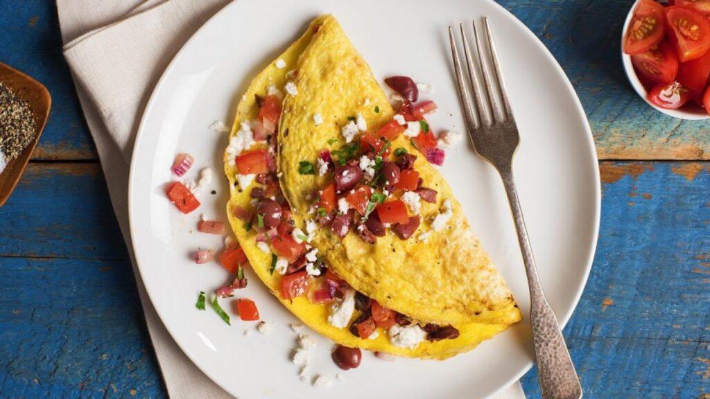 Feta, Veggies and Eggs