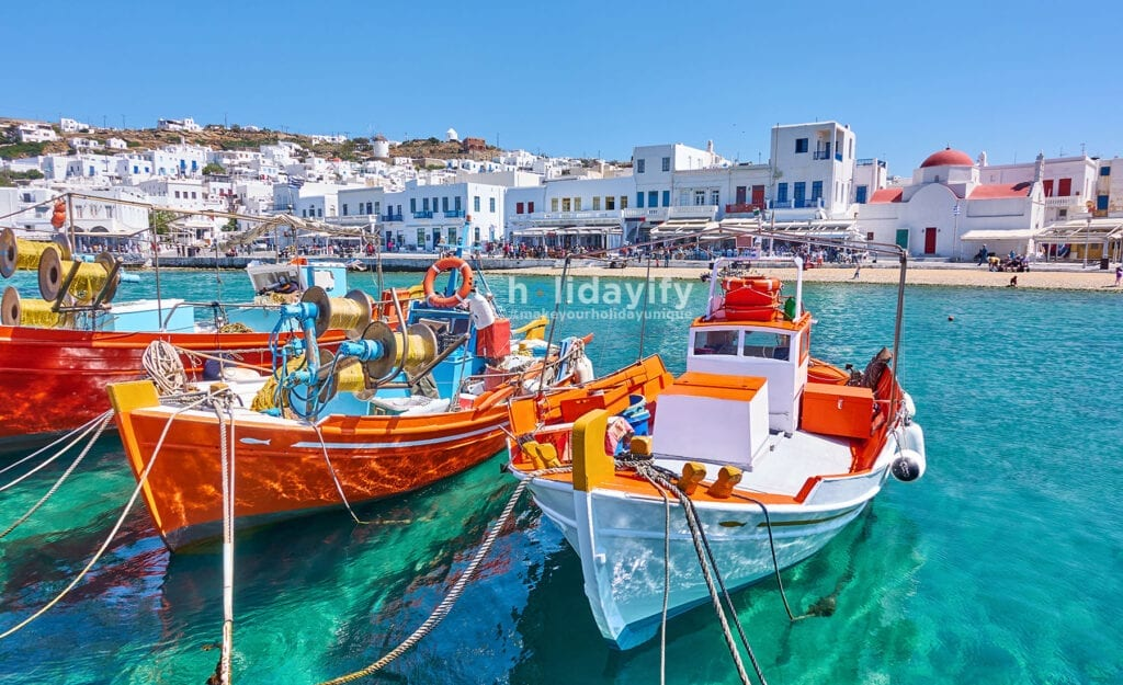 Harbour of Mykonos Town