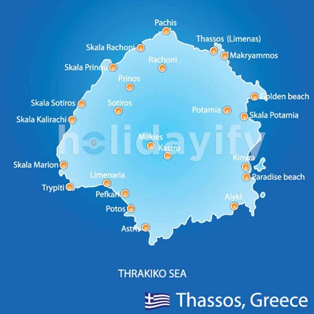 Thassos Map