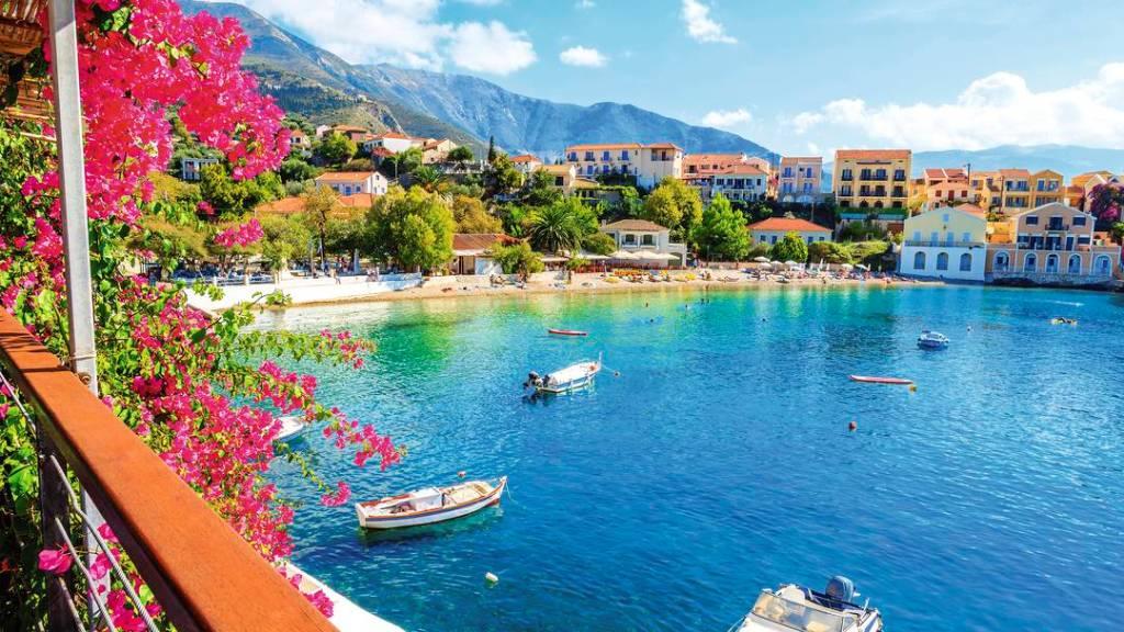 Assos Köyü, Kefalonya, Yunanistan