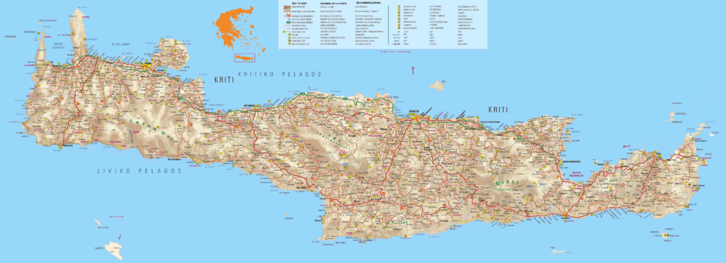 Large Map of Crete