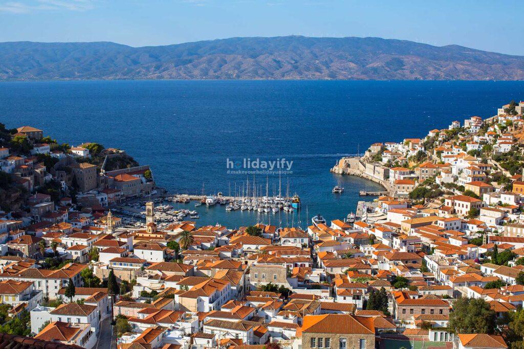 Marina and Hydra island, Greece