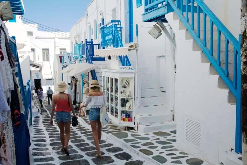 Mykonos Matoyianni Street