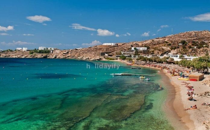 Paradise Beach, Mykonos island