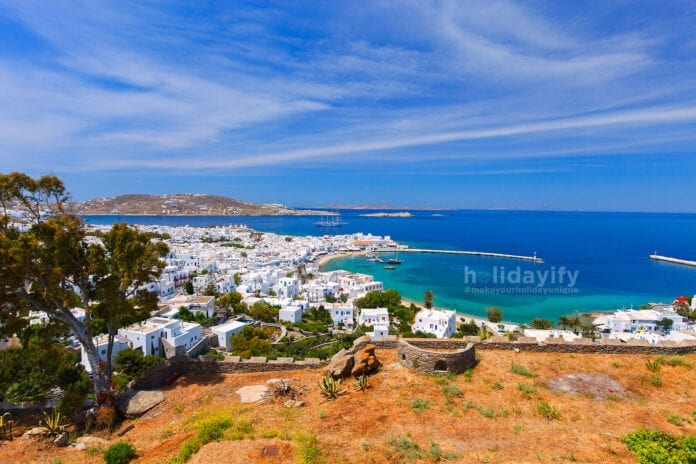 View of Mykonos Island