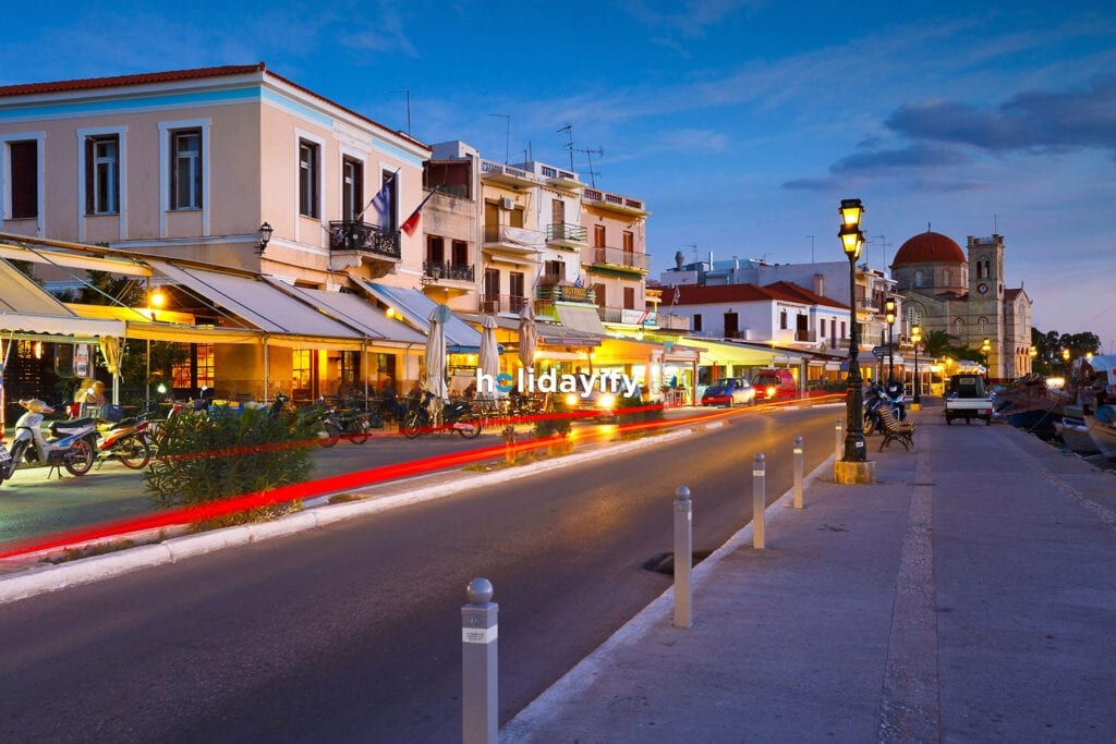 Nightlife in Aegina Island, Greece