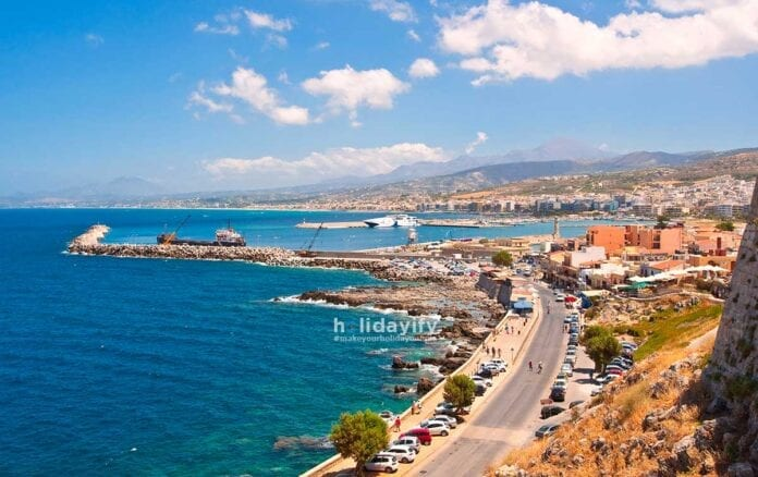Rethymno city on the Crete island, Greece