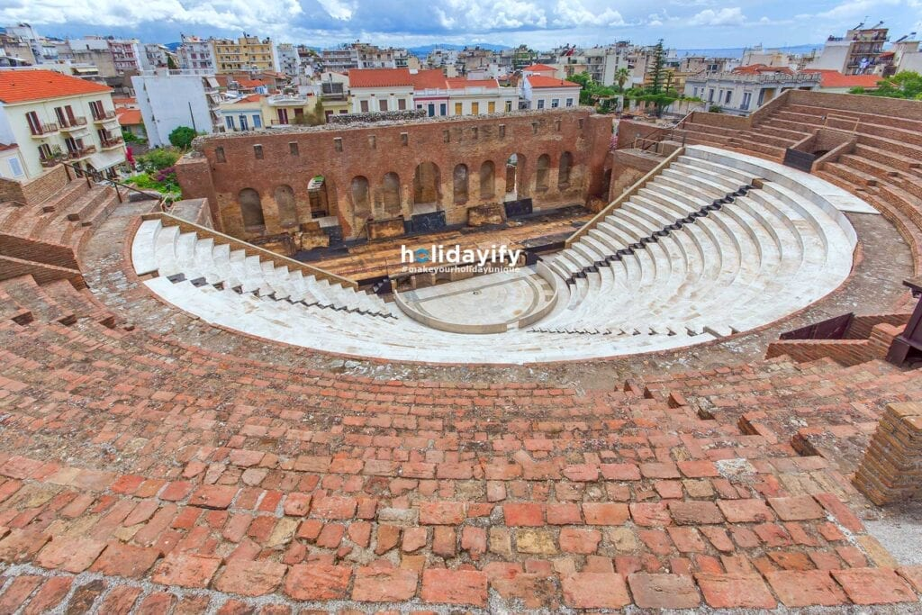 Panoramic view of Amphitheater in Roman Odeon, Patras