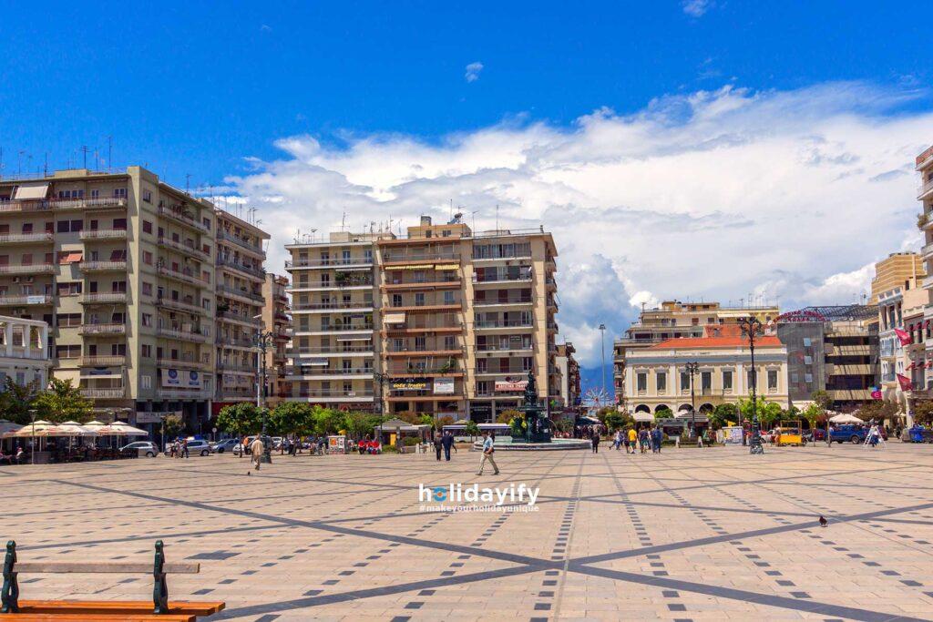 Panoramic view of King George Square Patras