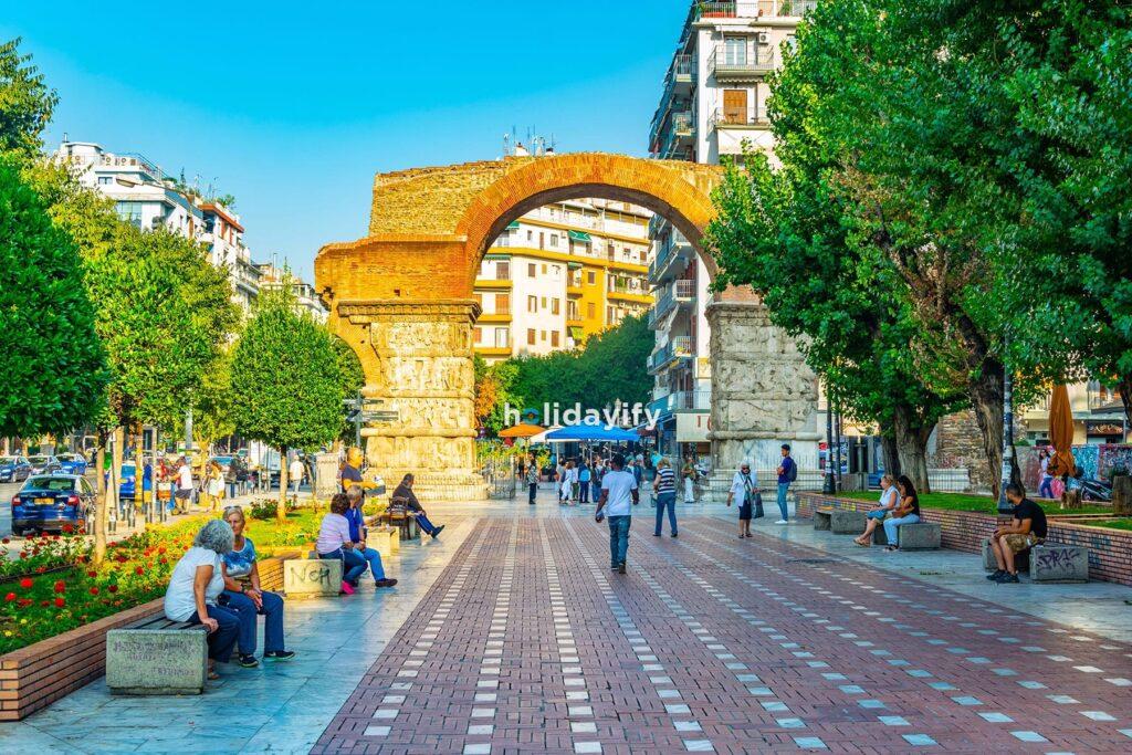 Rotunda of Galerius and Galerius arch in Thessaloniki