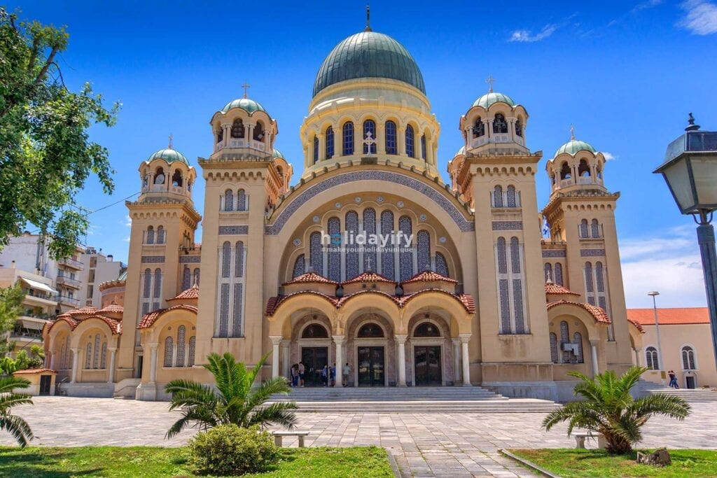 Saint Andrew Church, the largest church in Patras, Greece