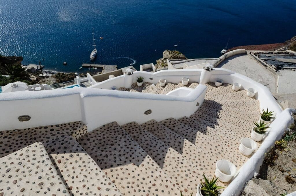 Stairwells of Oia, Santorini, Greece