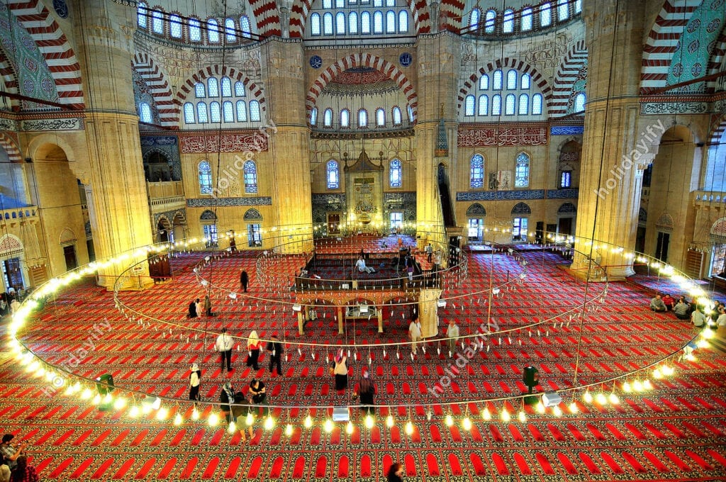 Inside of Selimiye Mosque