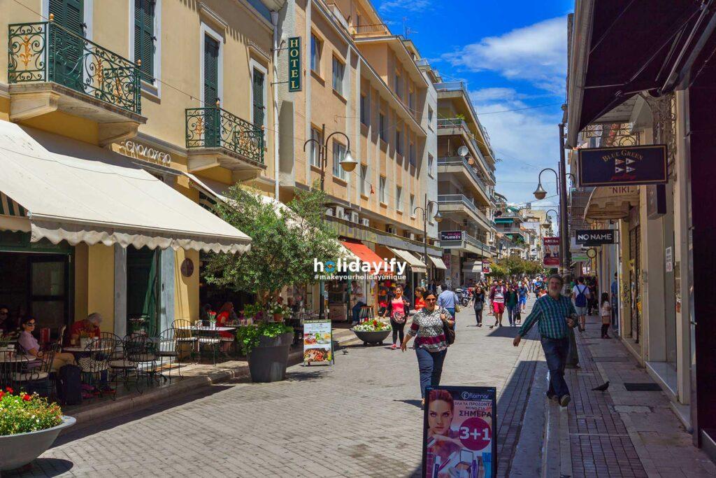 Shopping in Patras, Greece