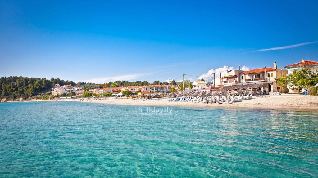 Sivri sand beach, Kassandra, Halkidiki, Greece