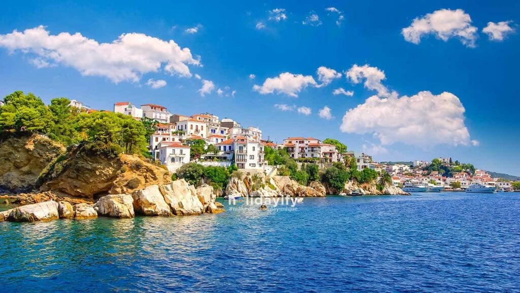 Skiathos town on Skiathos Island, Greece