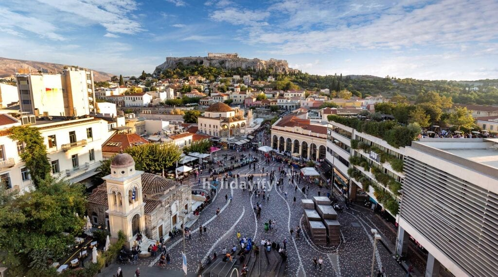 View of Athens capital city of Greece