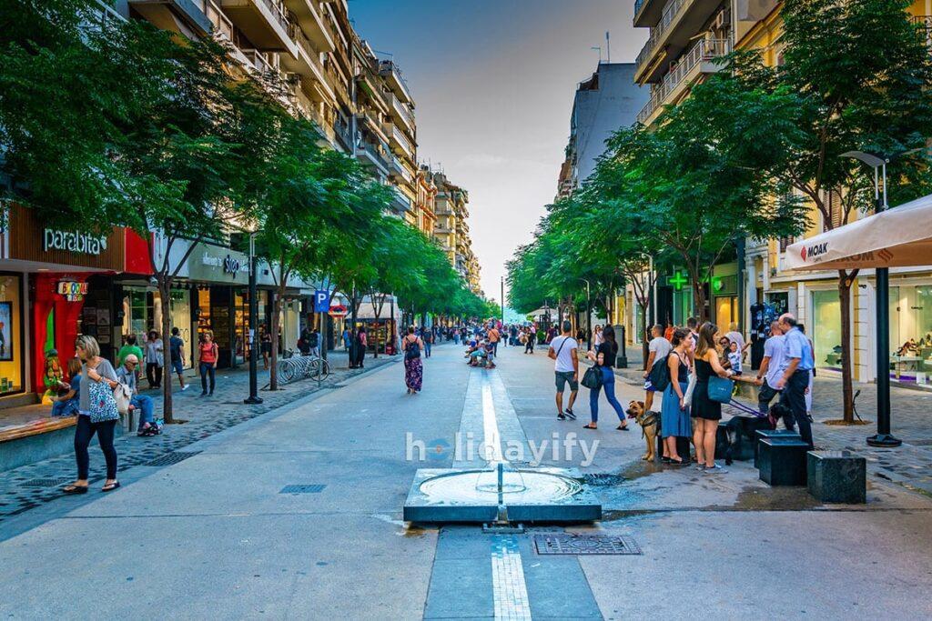 Agias Sofias boulevard in Thessaloniki