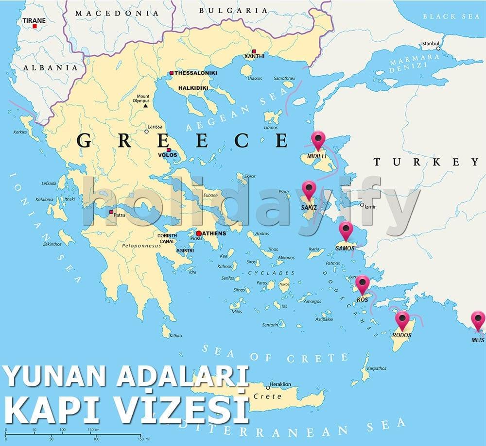 Yunan Adaları - Kapı Vizesi