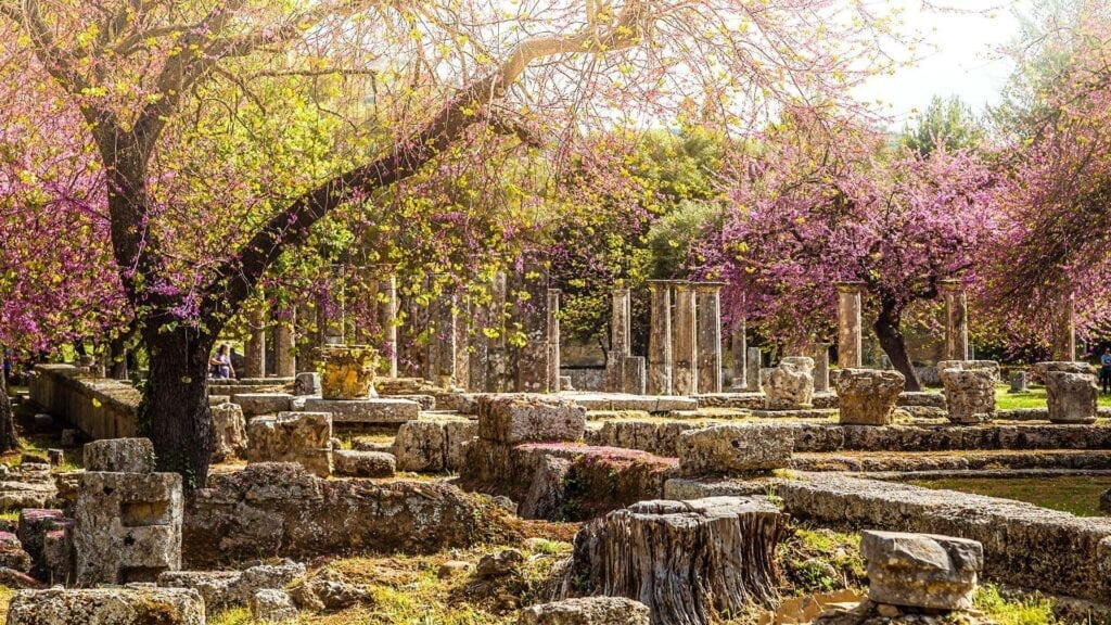 Spring Holidays in Ancient Olympia, Greece