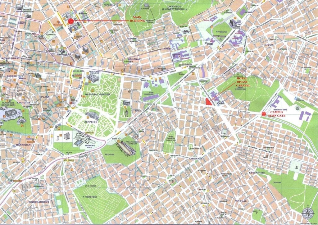Athens Map of Attractions
