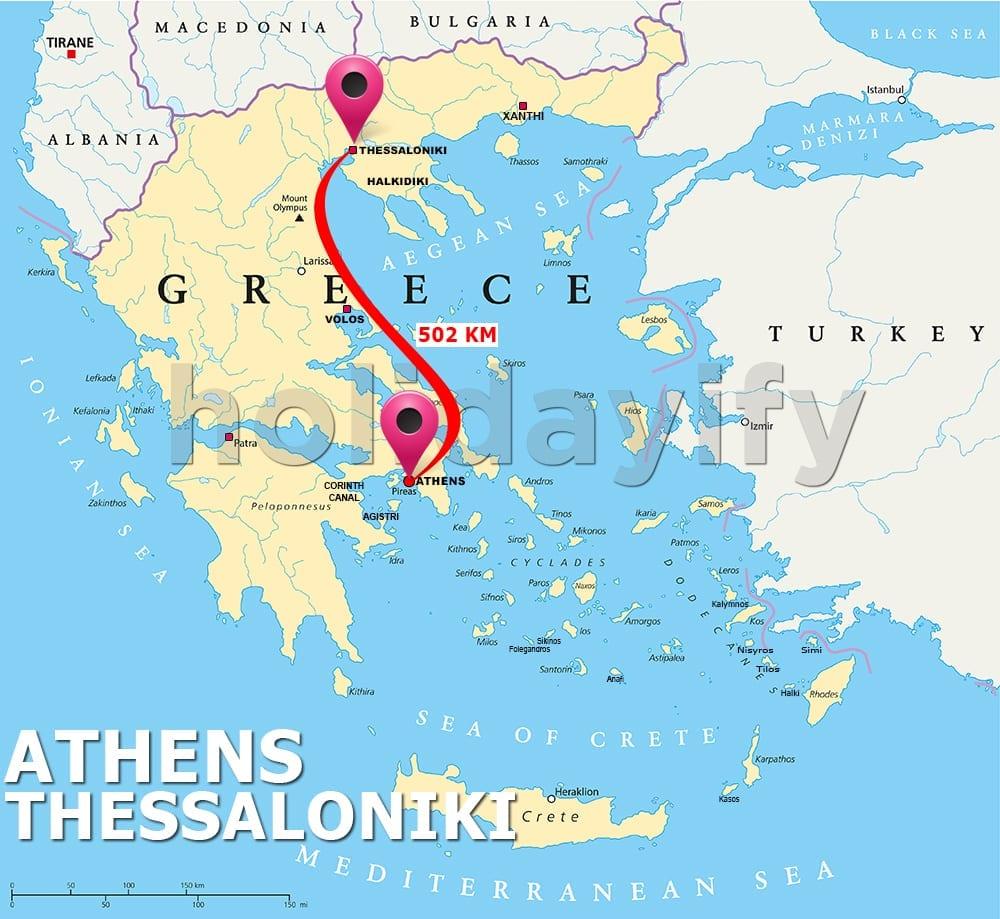 Athens to Thessaloniki