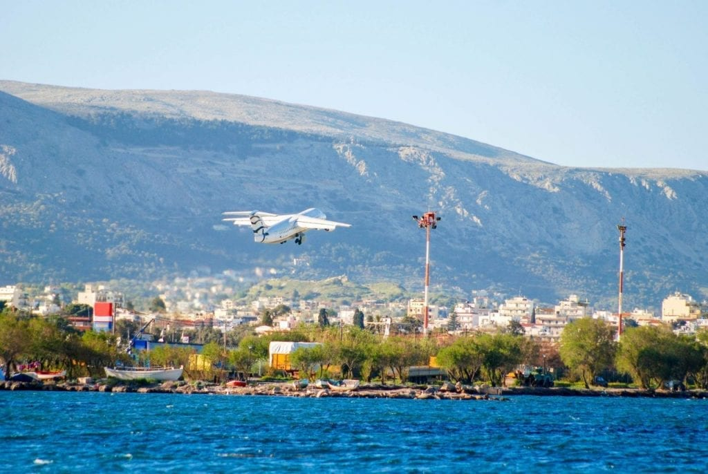 Airport of Chios Island, Greece