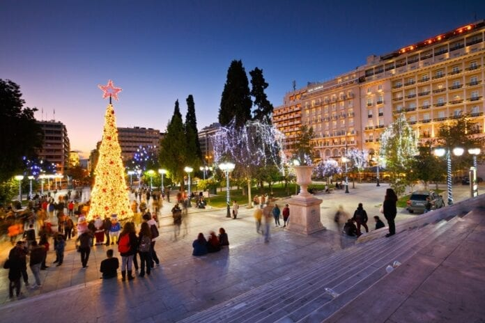 Christmas holiday in Greece