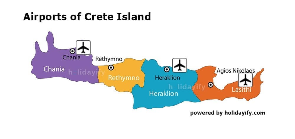Airports of Crete, Greece