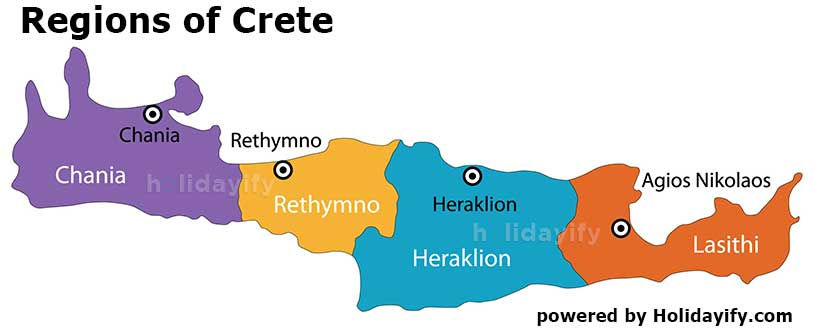 Regions of Crete, Greece