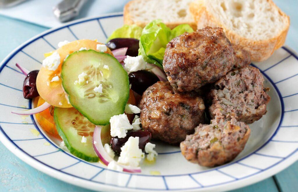 Keftethes (Meatballs) - Greek Foods