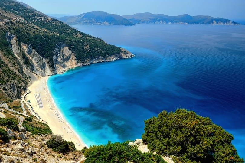Myrtos Plajı, Kefalonia Adası