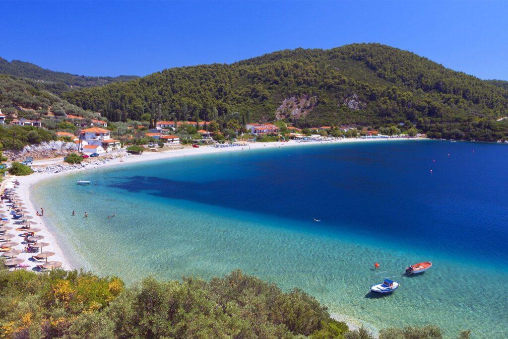 Panormos beach in Skopelos island