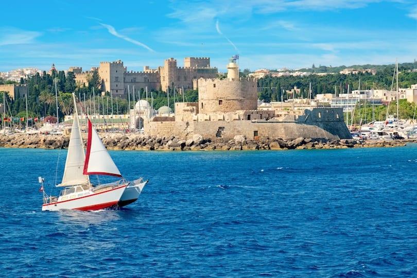 The old Agios Nikolaos fortress, Rhodes, Greece