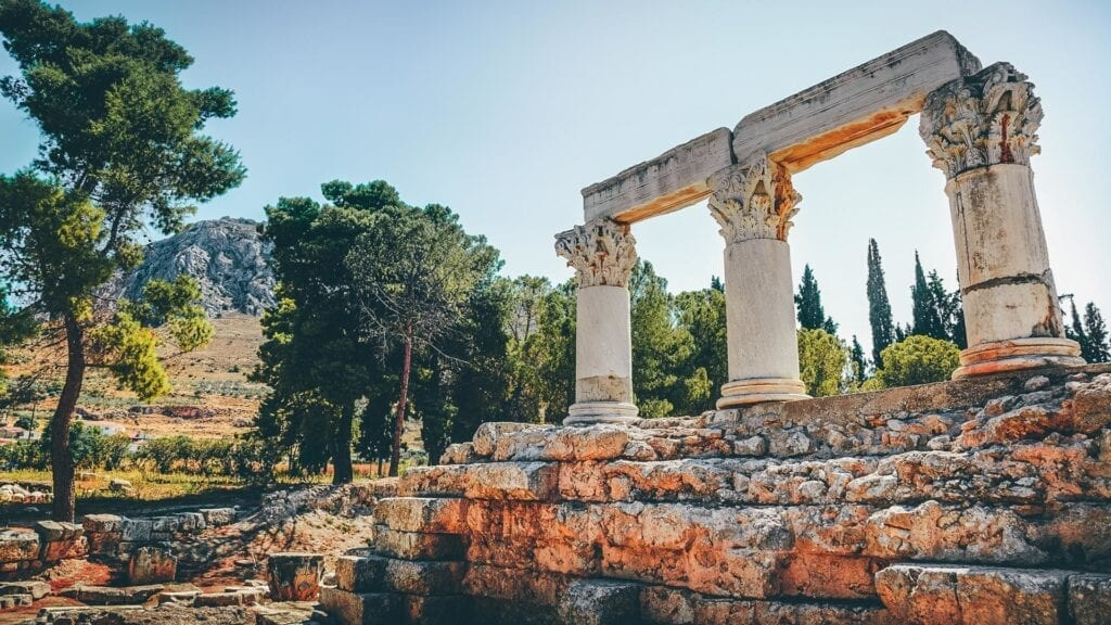 Ruins around Corinth, Greece