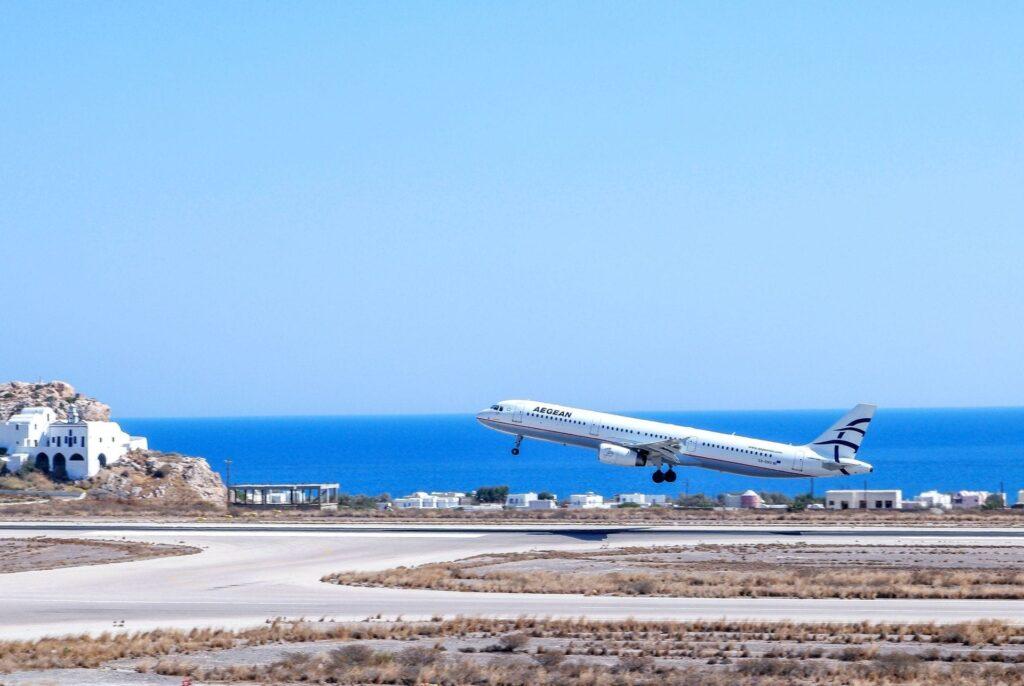 Airport of Santorini
