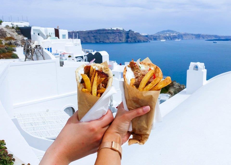 Best Gyro in Santorini