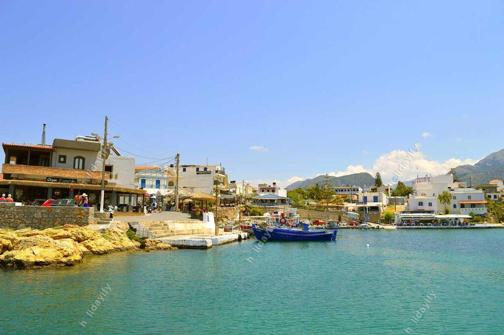 Sissi harbour in Crete