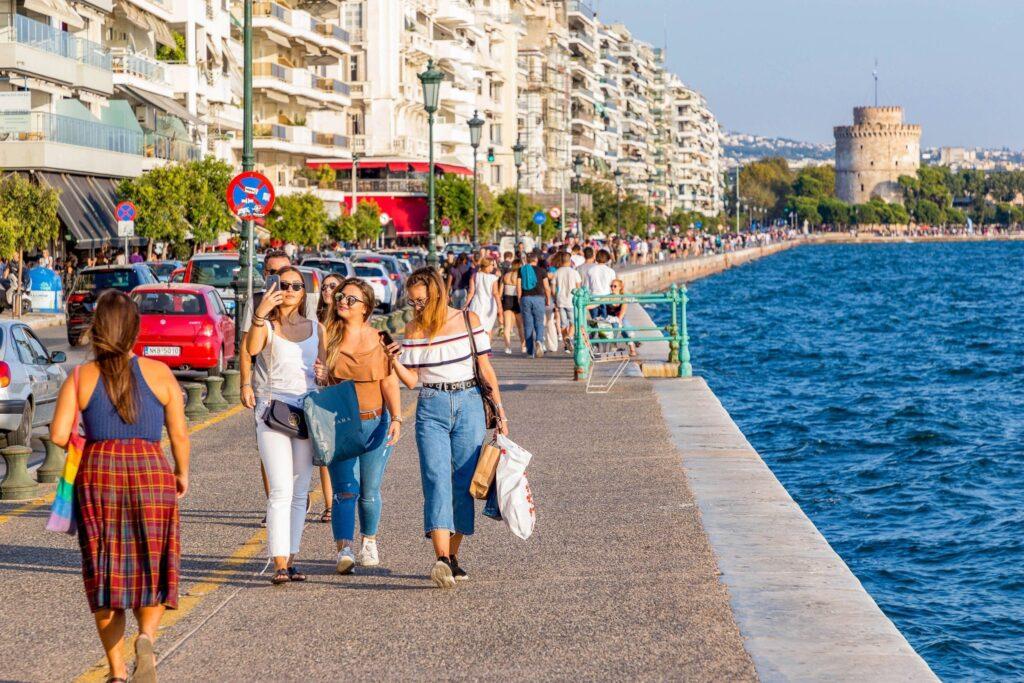 Seaside of Thessaloniki, Greece