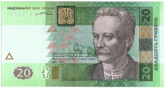 Front Photo of 20 Hryvnia
