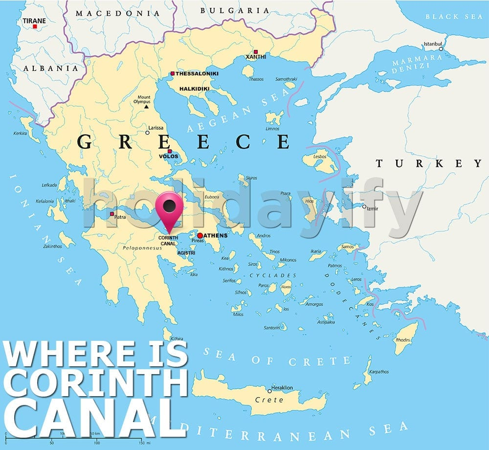 Where is Corinth Canal in Greece