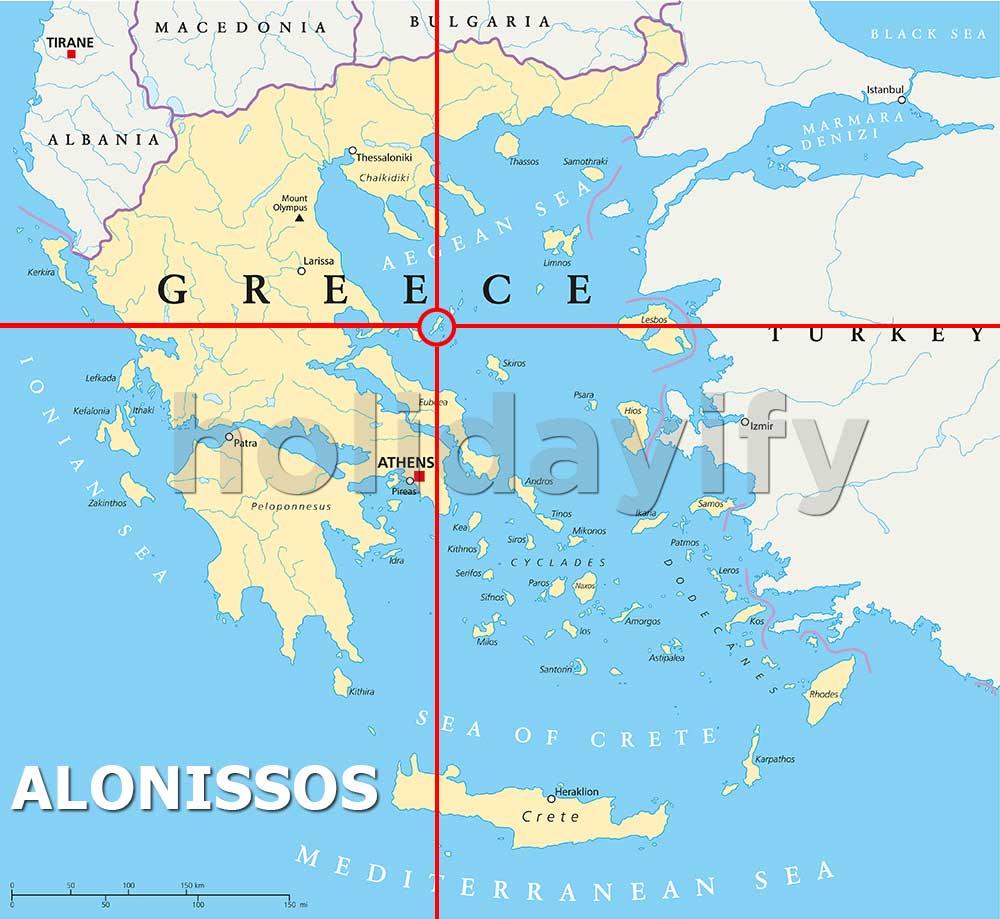 Alonissos Adası Nerede
