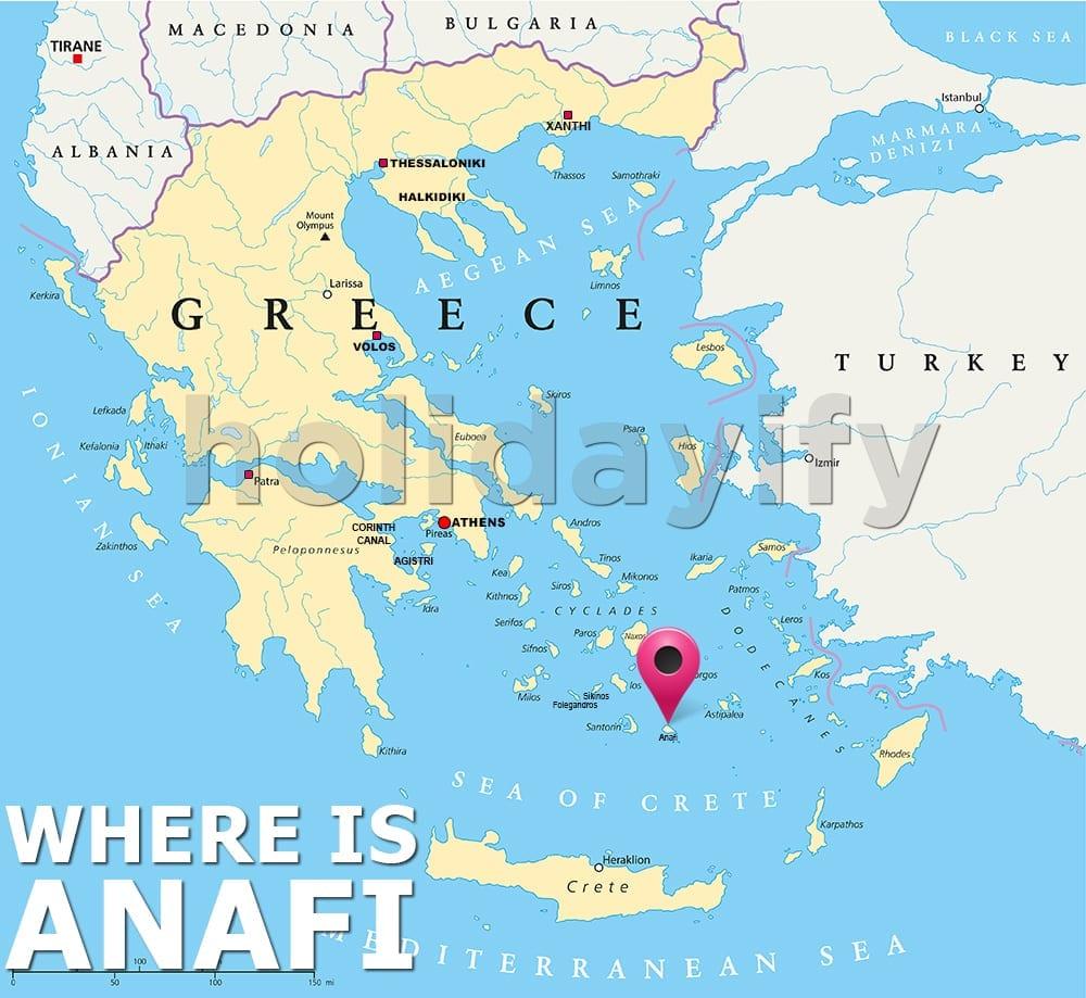 Where is Anafi island, Greece